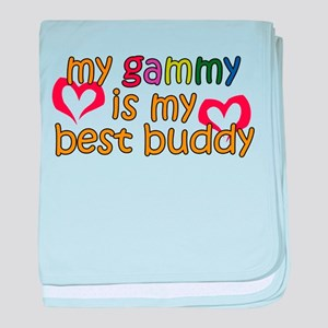 Gammy is My Best Buddy baby blanket